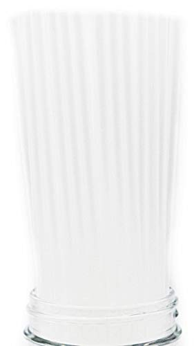 Made in USA Pack of 250 Clear Slim Tall (10' X 0.21') Unwrapped Plastic Drinking Straws (FDA-approved, Non-toxic, BPA-free)