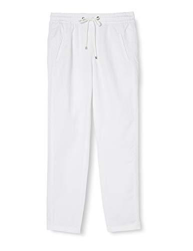 MAC Jeans Easy Chino Vaqueros Corte de Bota, Blanco (White 010), 44W para Mujer
