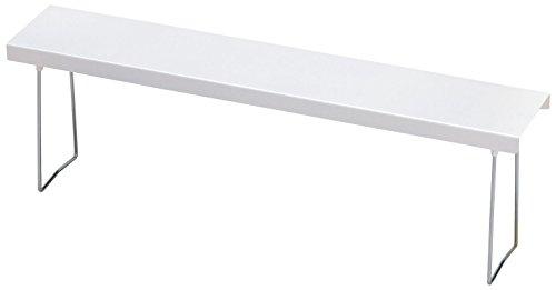 Belca キッチン棚 ベラスコート コンロスキマラック 幅58×奥行11×高さ18cm ホワイト 油汚れ 水洗い 日本製 BC-KSG