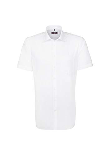 Seidensticker Herren Business und Freizeit Hemd Regular Fit, Weiß (Weiß 1), 43 (Herstellergröße: X-Large)