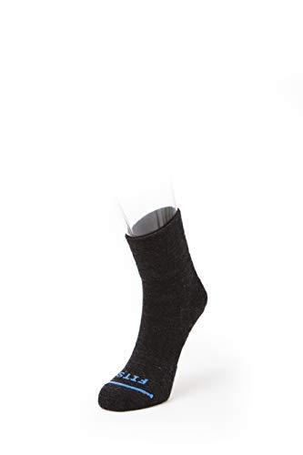 Serve para trilhas de desempenho leve – Meias de 0,9 metros: meias de caminhada para corrida e ao ar livre, Charcoal, X-Large