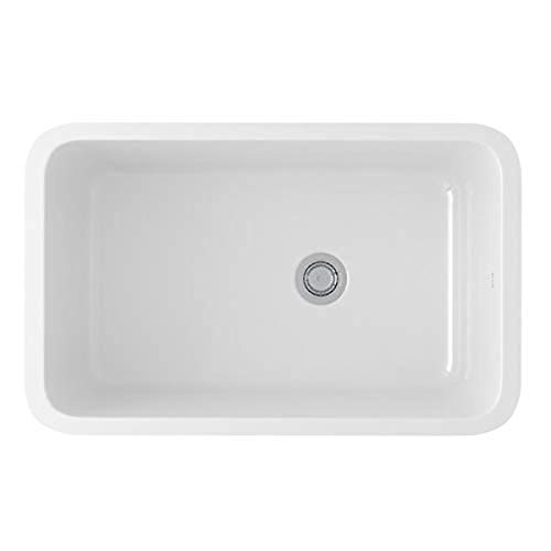 Rohl 6307-00 FIRECLAY KITCHEN SINKS, 31-1/8-Inch by 19-5/8-Inch by 11 Inch, White (00)
