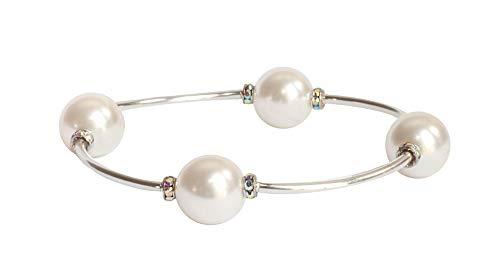 Crystal White Swarovski Pearl Blessing Bracelet (7)