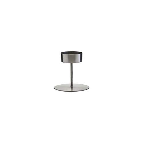 House Doctor Kerzenständer, Anit, Eisen, h: 10 cm, Dm: 10,5 cm, Silber
