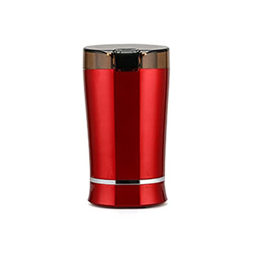 BLLXMX Coffee Grinder Electric for Beans,Spices and More,Stainless Steel Blades,Small Quiet Grinder (Color : Red)