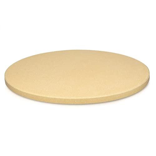 Mediawave Store - Piedra refractaria para cocinar pizzas, bandeja con base redonda cordierita y cerámica, piedra refractaria para pizza de horno y barbacoa, piedra con diámetro de 30 m