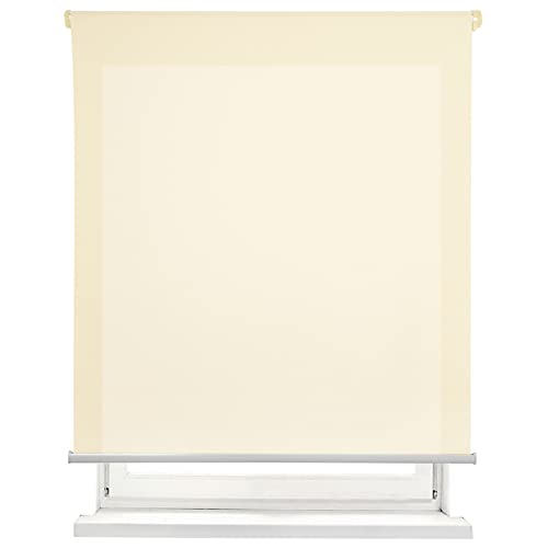 MERCURY TEXTIL Estor Enrollable translúcido Liso (Beige, 150x180cm)