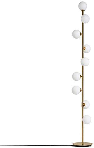 QTWW 9 têtes personnalité élégante Boule de Verre Moderne LED lampadaire créatif Or métal sur Pied luminaire G4 décoration m Chevet LED lampadaire