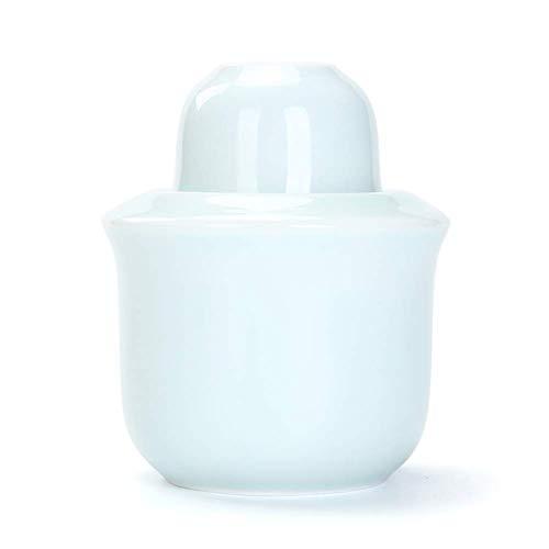 AMYZ Juego de 3 Piezas de artesanías de Porcelana Retro Tradicional de Estilo japonés,Juego de Copas de Vino para Servicio de Sake Caliente/frío,Ideal para Sake japonés (Color:Blanco)