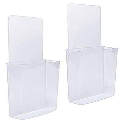 ZC GEL Remote Holder Wall Mount Damage-Free (2 Pack), Clear and Strong Self-Adhesive Universal Media Organizer Storage Box for Mobile Phone,Remote Control,Keys,Pens etc by ZC GEL