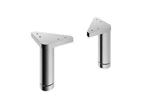 Pelipal 359 Piolo Fuß-Set, Aluminium, Weiß Hochglanz, 14,0 x 10,0 x 10,0 cm