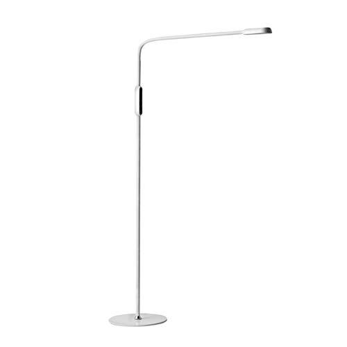 MJBOY LED vloerlamp 5 kleurtemperaturen & 5 dimbare helderheidsniveaus oogverzorging vloerlamp met afstandsbediening staande leeslamp voor woonkamer, slaapkamer, kantoor en woonhuis (9W), wit