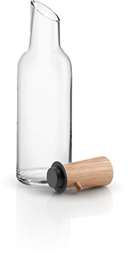EVA Solo Glazen karaf met houten stop, 1,0 liter, glas, eikenhout en silicone