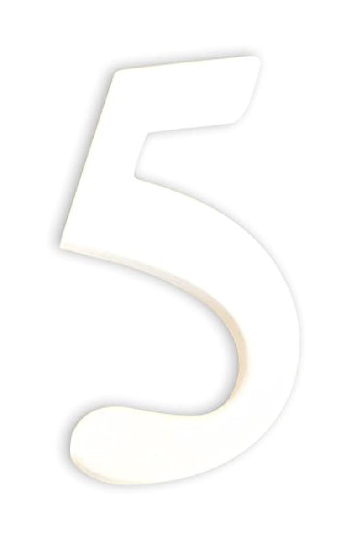 Exact Decopatch Mache Little Number 5 (Five), White, 1.5 x 7 x 12 cm