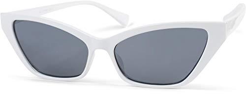 styleBREAKER gafas de sol estrechas de mujer en un estilo de ojos de gato, montura de plástico y lentes de policarbonato, «look retro» 09020091