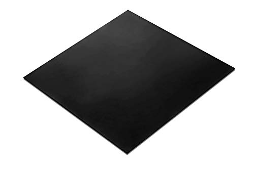 Rubber Sheet, Heavy Duty, High Grade 60A, Neoprene Black, 12x12-Inch by 1/16' (+/- 5%) for Plumbing, Gaskets DIY Material, Supports, Leveling, Sealing, Bumpers, Protection, Abrasion, Flooring