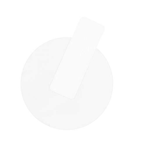 Almencla 3D Voll Abdeckung Gehärtetes Glas Displayschutzfolie für Watch Armbanduhr, Klar, Rund, 9H Härte - klar, 34mm