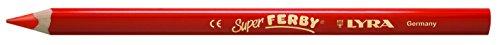 Lyra Super Ferby Matita Colorata Pastello, 6,25 Millimetri, 18 Cm, 12 Pc, Rosso
