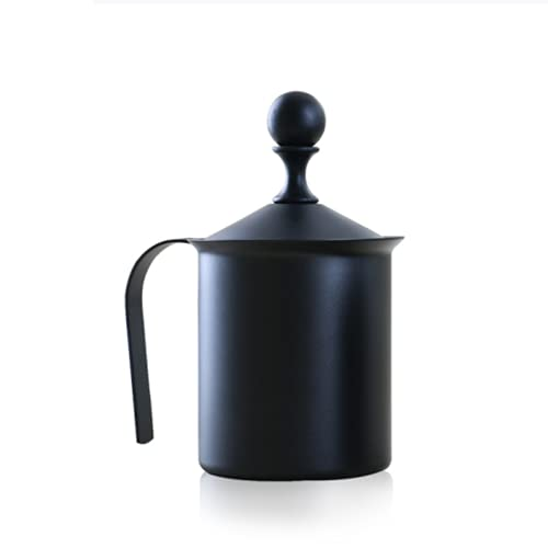 Handmatige melkfolie, PP hars hendel handvat, roestvrij staal dubbellaags filter, 800cc handmelk folder, geschikt voor keuken, restaurant, koffiebar, etc.