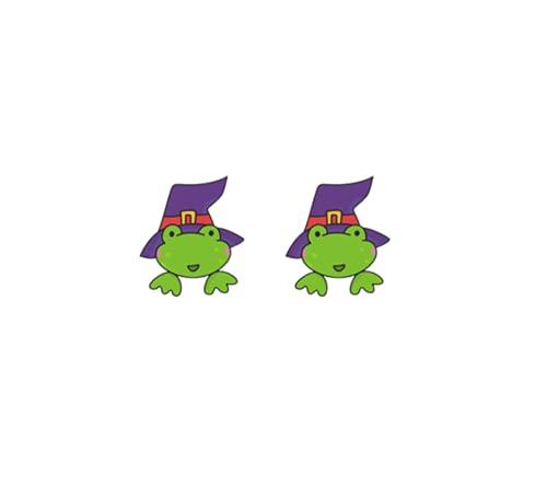 LOKILOKI Nuovo Happy Halloween Stud Orecchino Zucca Strega Acrilico Orecchino Gioielli Epossidici Fatti A Mano Regalo Ragazza Ragazzo