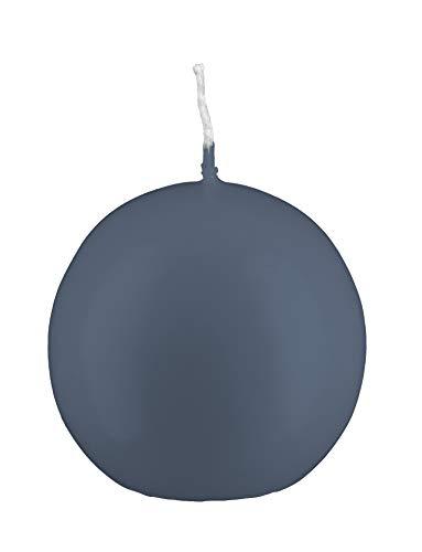 Kugelkerzen Pacific Blue Blau/Grau, Ø 4 cm, 12 Stück, deutsche Markenkerzen in RAL Kerzen Güte Qualität