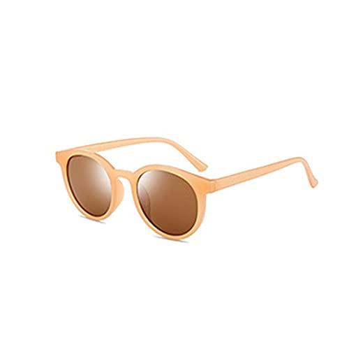 Persdico Montura redonda Tendencia Gafas de montura pequeña Gafas de sol Gafas de sol prácticas Regalo de cumpleaños Moda Gafas portátiles salvajes