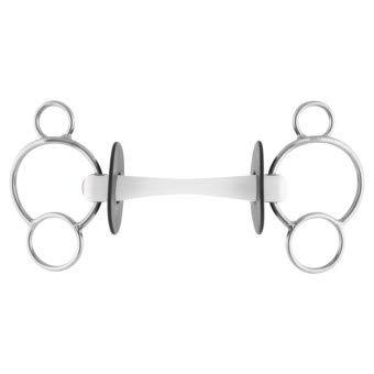 NATHE 3-Ring Gebiss 20 mm mit biegsamer Stange, 12 cm, 20 mm