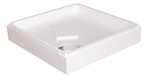 Calmwaters® - Modern Soft - Kleiner Duschwannenträger aus Styropor für eckige Acryl-Duschwannen in 90 x 90 x 6,5 cm - 03AX2910