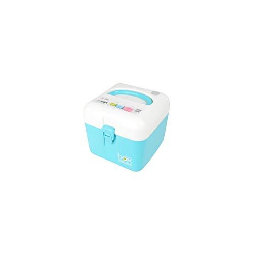 Hausapotheke Box Zweischichtige Medizinbox kleine Aufbewahrungsbox für Medikamente mit hoher Kapazität Mehrfarbig Multi-Size optional WGLGL (Color : Blue, Size : 16×16×15cm)