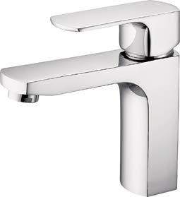 Valaz - Grifo lavabo cromado cuadrado monomando serie Segura