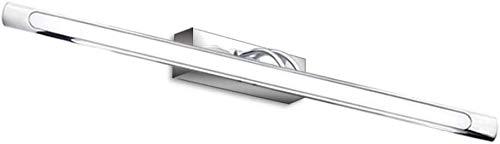 Bonlux 9W Spiegelleuchte Kaltweiß 6000K-6500K 63cm LED badleuchte Einstellbar Edelstahl IP44 Wasserdichte 900lm AC95-265V Abstrahlwinkel 120° Schrankleuchte Schminklicht