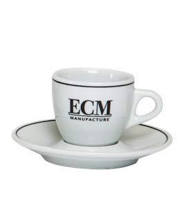 ECM Espressotassen mit Unterteller (VE= 6 Stück)