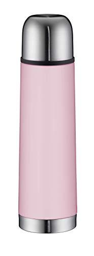 alfi 5457.290.050 Isolierflasche Isotherm Eco, Edelstahl Quarz Rose Matt, 0,5 Liter, Drehverschluss, 12 Stunden heiß, 24 Stunden kalt, BPA-Free