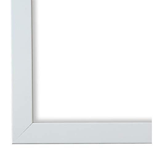 Online Galerie Bingold Bilderrahmen Weiß 30 x 50 cm 30x50 - Modern, Vintage, Retro - Alle Größen - handgefertigt - WRF - Neapel 2,0