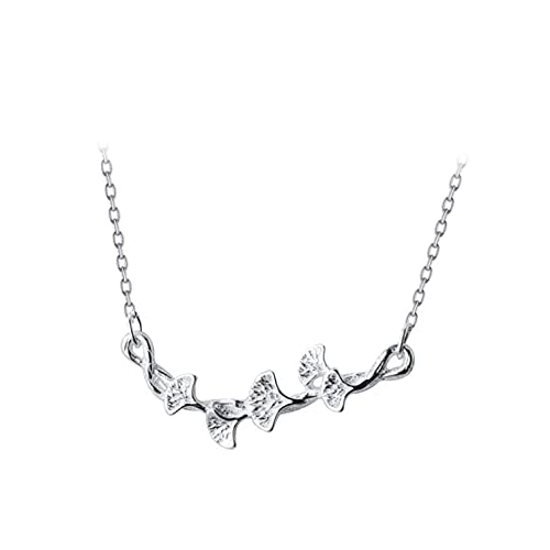 Freaiaqy 100% Plata de Ley 925 auténtica Moda clásica Collar de Cadena de Flores Colgantes para Mujer joyería S925 esterlina