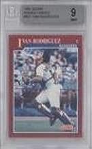 Ivan Rodriguez BGS GRADED 9 (Baseball Card) 1991 Score Rookie & Traded - Box Set [Base] #82T