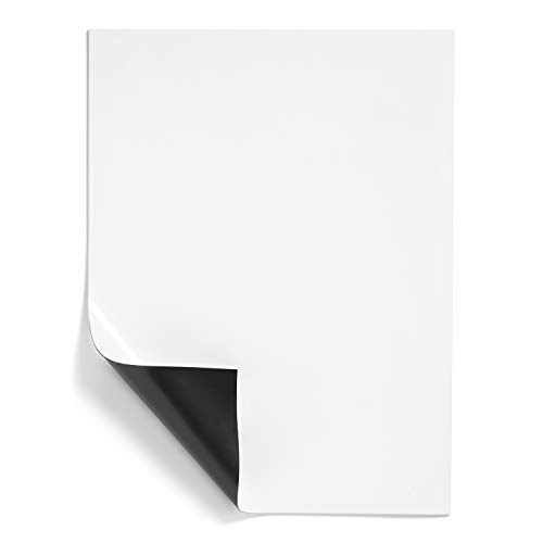 """Minomag Magnetic Dry Erase Sheets  Flexible Whiteboard with Refrigerator Magnet Backing for Restaurant Warehouse Locker Room Kitchen and Office 9""""x12""""  Set of 5"""