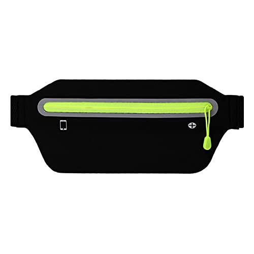 UNIhappy Cinturón para correr, impermeable Running Waist Phone Pack para Fitness Sport (negro)