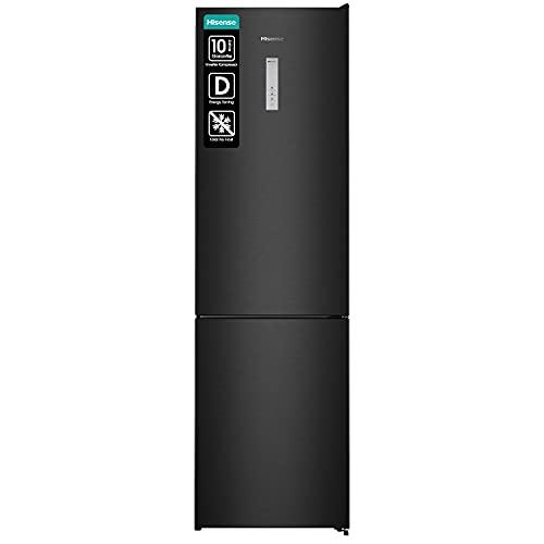 Hisense RB438N4BF3 Kühl-Gefrierkombination/ NoFrostPlus/ Multiflow 360°/ HolidayMode/ FreshZone/ 200,3 cm/ Kühlteil 252 l/ Gefrierteil 100 l/ 38 dB/ 201 kWh/ Jahr/ Schwarz