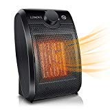Space Heater Electric Ceramic Heater - 1500W Portable Space Heaters for Home Indoor Use Office Bedroom Desk Garage,Small Personal Room Heater with Adjustable Tip Over,Over Heat Auto Off