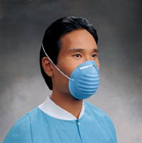 PT# 152 PT# # 152- Mask Face Classic Cone Blue Headband Standard 50/Bx by, Kimberly Clark Healthcare