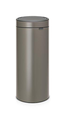 Brabantia - 115363 - Poubelle Touch Bin Unie New, 30 L - Acier Inoxydable Platinium