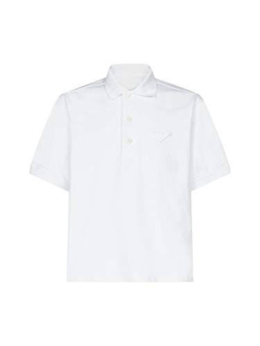 Prada Luxury Fashion Herren UJN6381V3HF0009 Weiss Baumwolle Poloshirt   Frühling Sommer 20