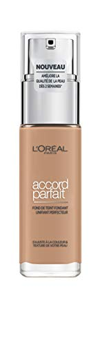 L'Oréal Paris Make-Up Designer Accord Parfait - 5.D/5.W Golden Sand - Foundation base de maquillaje Frasco dispensador Líquido - Base de maquillaje