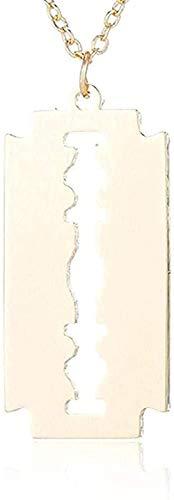 qiangloushui Collar Collar Cuchillas De Afeitar De Acero Inoxidable Collares Pendientes Hombres Joyería Collares Y Colgantes con Forma De Afeitadora De Acero Collar De Mujer