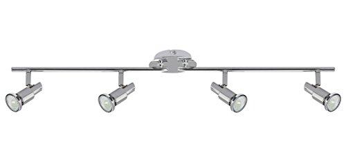 Trango 4-flammige LED Deckenleuchte TG2890-048SD inkl. 4x 5 Watt dimmbare LED Leuchtmittel GU10 3000K warmweiß Deckenstrahler Deckenlampe Spots