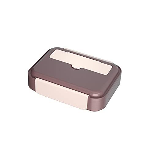 FEIGAO Caja Bento, 304 de acero inoxidable y ABS para el almuerzo, alta capacidad, 1200 ml, caja de almuerzo para adultos, contenedor de preparación de comidas (25,5 x 19,2 x 7 cm)