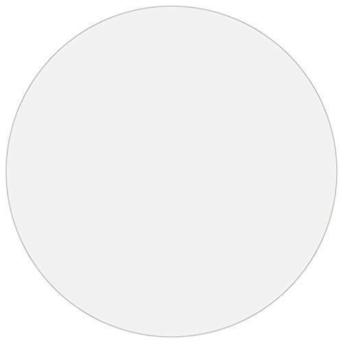 Bulufree Protector de Mesa Redonda de PVC Resistente de 2 mm, Funda Protectora de Muebles Impermeable Resistente a los arañazos, Ø 110 cm, Transparente