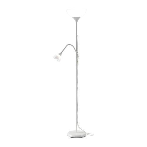 Ikea IKEANOT-Floor Floor Uplighter/Reading Lamp, White
