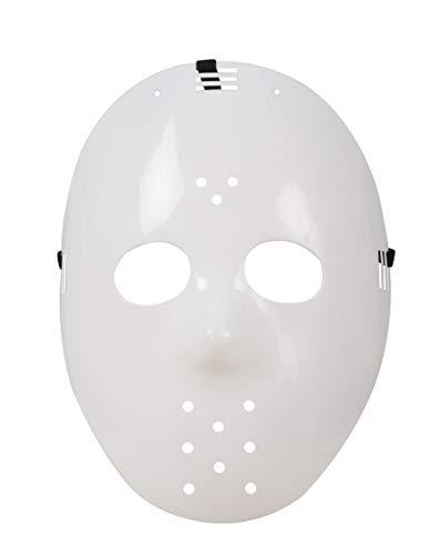 P'tit Clown 45700 Masque Adulte Dur Hockey - R - Blanc